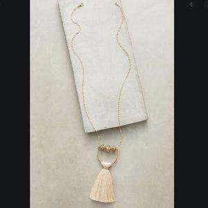 Anthropologie Salt Empire Tassel chain necklace
